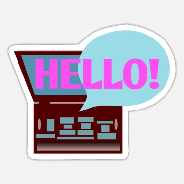Elliot Hello - Sticker