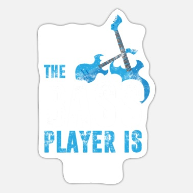 Bass Player Bass Player Vintage Bass Player - Sticker