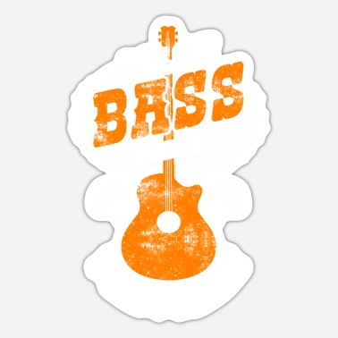 Bass Player Bass Player And Bass Player Vintage - Sticker