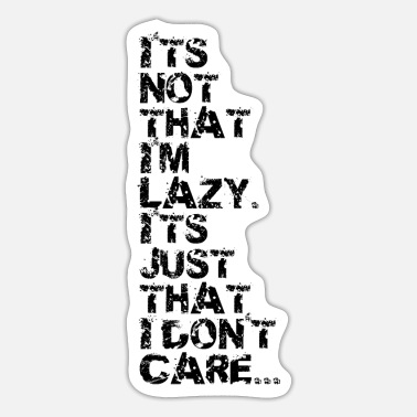 Lazy Lazy - Sticker