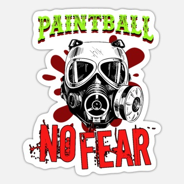 Paintball Paintball No Fear Paintball Player Paintball - Sticker