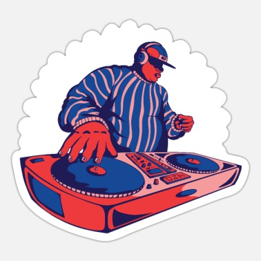 Duotone Fat DJ on the duotone turntables club music dj - Sticker