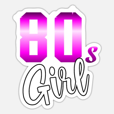 80s 80s Girl Girl Disco Woman Woman Power Experience - Sticker