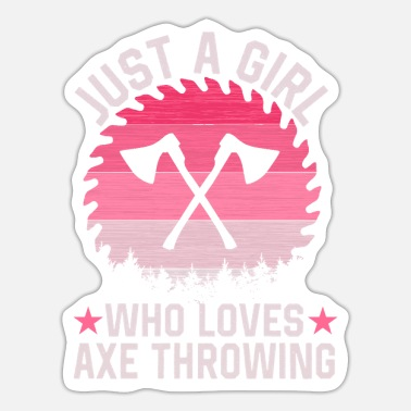 Axe Girl Axe Throwing - Sticker