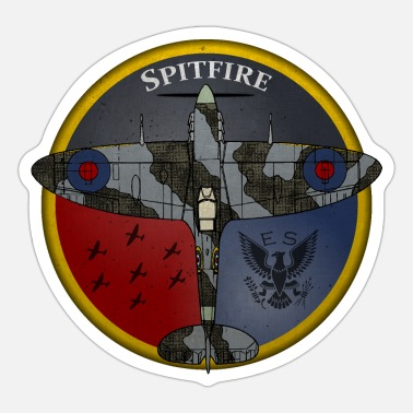 Force Supermarine Spitfire retro (top) - Sticker