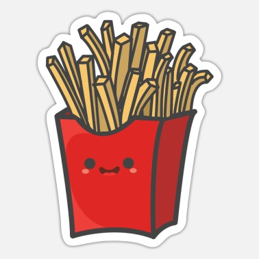 Fries Cute Fries - Sticker