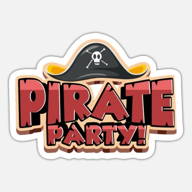Pirate Party Pirate Party T-Shirt - Sticker
