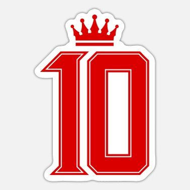 Jersey Number 10 number crown jersey - Sticker