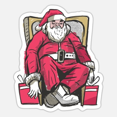 Santa Claus Santa Claus sleeping Santa Claus - Sticker