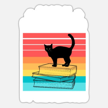 Distracted By Cats Easily Distracted Cats And Books - Sticker