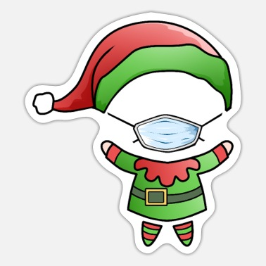Poor Santa Claus Elf Home Office Funny office humor - Sticker