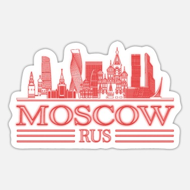 Kremlin Moscow Skyline Russia City Silhouette Travel - Sticker