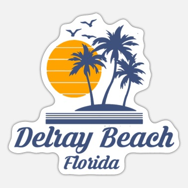 City-state Delray Beach Florida Fl City State Tourist - Sticker
