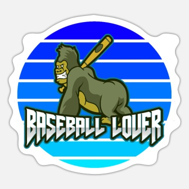 Baseball Gorilla Baseball Lover - Sticker