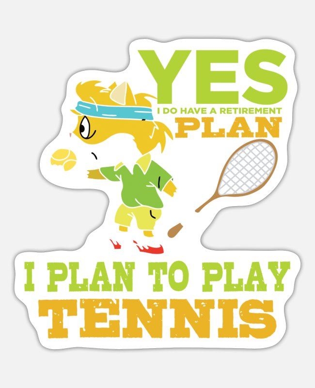 Tennis Stickers - Tennis tennis racket tennisball tennis match - Sticker white matte