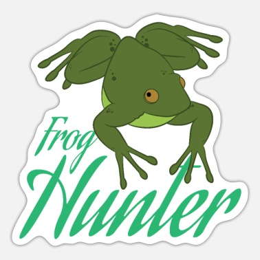 Frog Funny Frog Hunter Lover Gift Design - Sticker