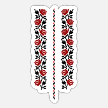 Tradition Traditional Folklore Floral - Sticker