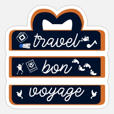 Travel Agency Clerk travel bon voyage - Sticker