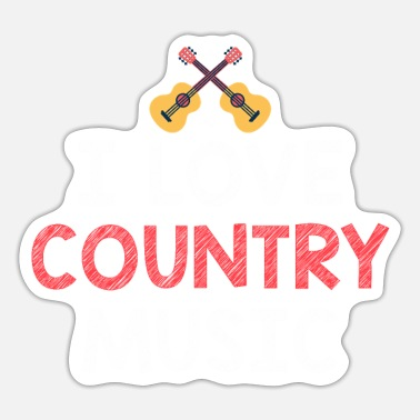 Countrymusic I love Country Musik als countrymusic Geschenkidee - Sticker