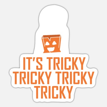 Nightspot Its Tricky Halloween Night Ghost Party Outfit T-Sh - Sticker