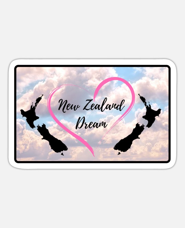 New Zealand Stickers - New Zealand Dream - Sticker white matte