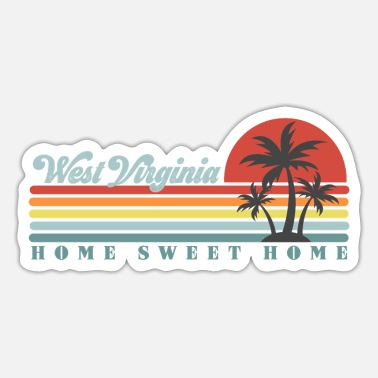 Virginia West Virginia Home Sweet Home - Sticker