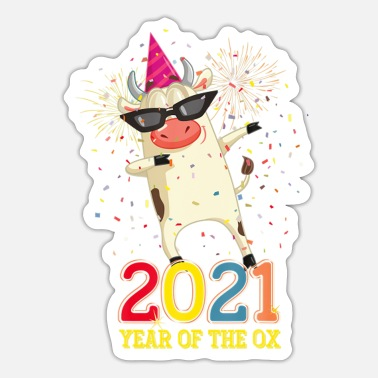 Year Chinese New Year 2021 Clothes Boy Girl Outfit Year - Sticker