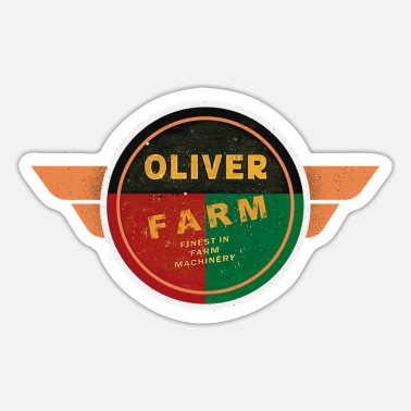 Tractors Oliver Farming with Wings - Sticker