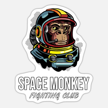 Club Space Monkey Fighting Club Astronaut Boxing Club - Sticker