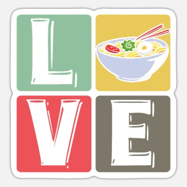 Love Japanese Noodles Ramen Love Japanese Noodles Pasta Lover - Sticker