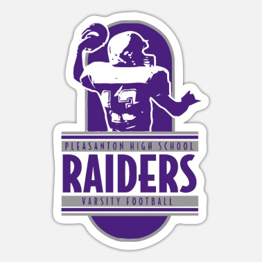 Raider PLEASANTON HIGH SCHOOL RAIDERS VARSITY FOOTBALL - Sticker
