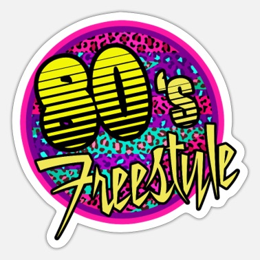 Music Club 80S Freestyle Music Lovers Of Eighties Club Dance - Sticker