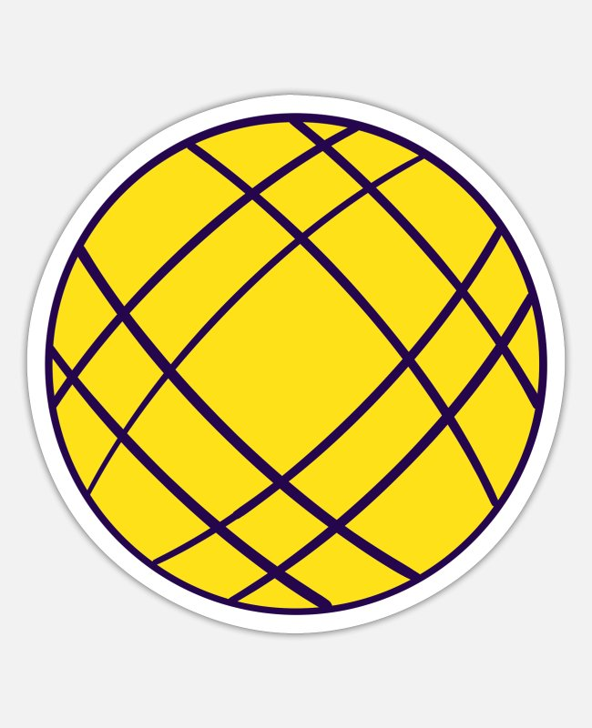 Circular Stickers - Yellow Ball - Sticker white matte