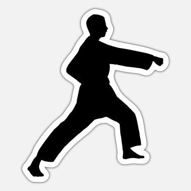 Punch Punch karate or teakwondo - Sticker