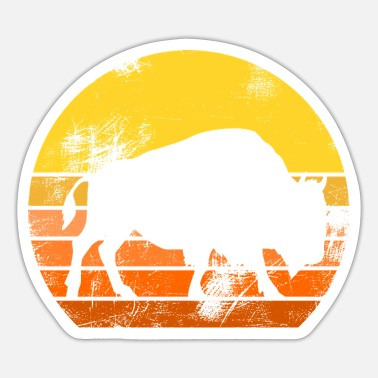 Serengeti Buffalo savanna Serengeti silhouette of a buffalo - Sticker
