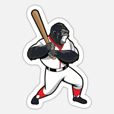 Baseball Gorilla Gorilla Baseball - Sticker