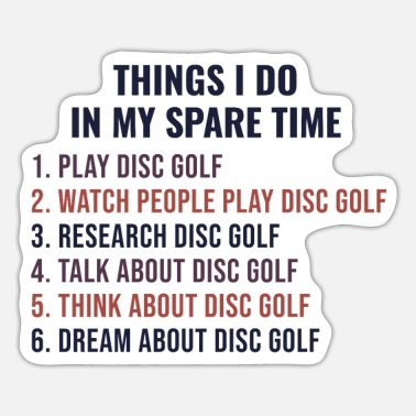 Record Disc Golf Player Golfer Frisbee Funny Saying Gift - Sticker