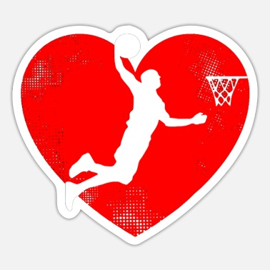 Basketball Lover Basketball Valentines Day Tshirt Basketball Lovers - Sticker