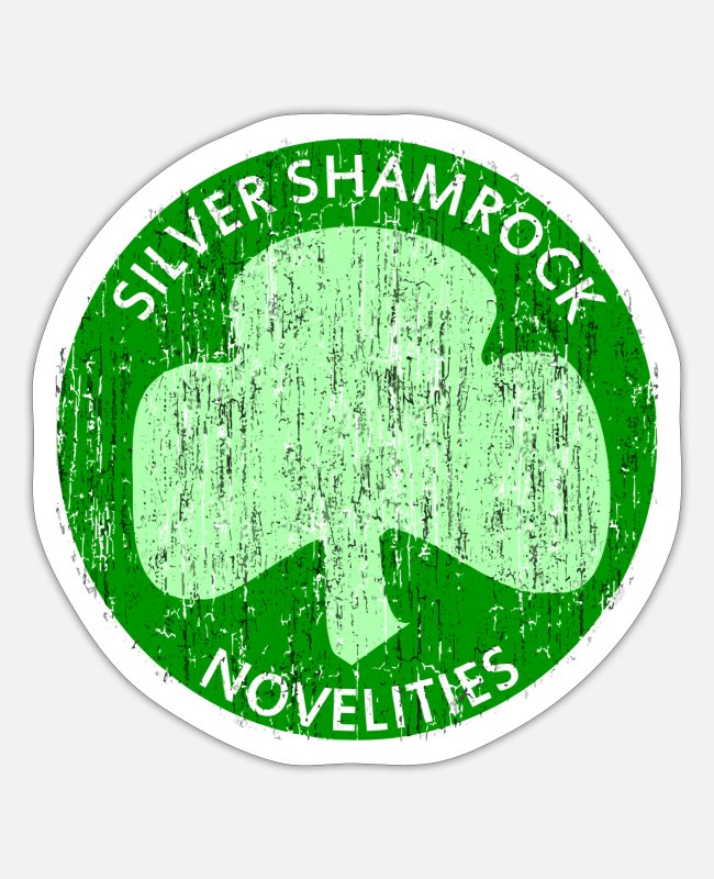 Silver Stickers - Vintage Silver Shamrock Novelties - Sticker white matte