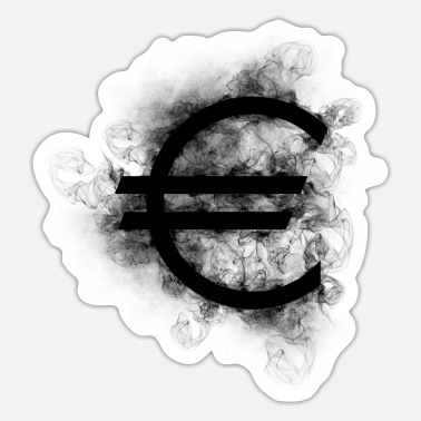 Euro Euro euro black - Sticker