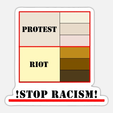 Racism Usa stop racism USA protest capitol - Sticker