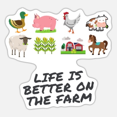 Life Is Better With A Pig Farm Farmer Girls life is better on the country - Sticker