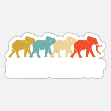 Safari Retro Vintage Elephant Design - Sticker
