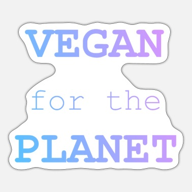 Vegan Vegan for the Planet with Tie-Dye Text - Sticker