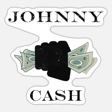 Cash johnny cash - Sticker