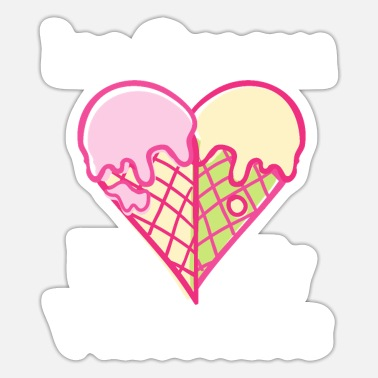 Valentine Ice Ice Cream Is My Valentine - Sticker