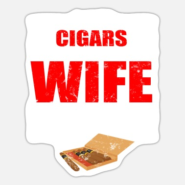 Funny Couple Funny Couple Cigars Lover For Family Gifts - Sticker