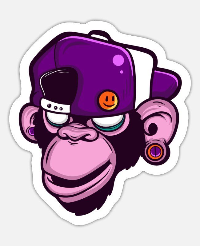 Orang Utan Stickers - Gorilla - Sticker white matte