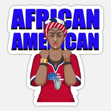 Woman African American Woman - Sticker