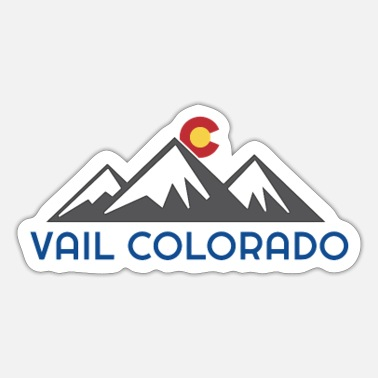 Rocky Mountains Vail Colorado Rocky Mountain - Sticker